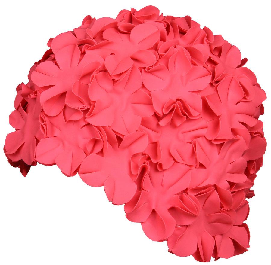Růžová dámská nebo pánská plavecká čepice Bloom, Aqua-Speed