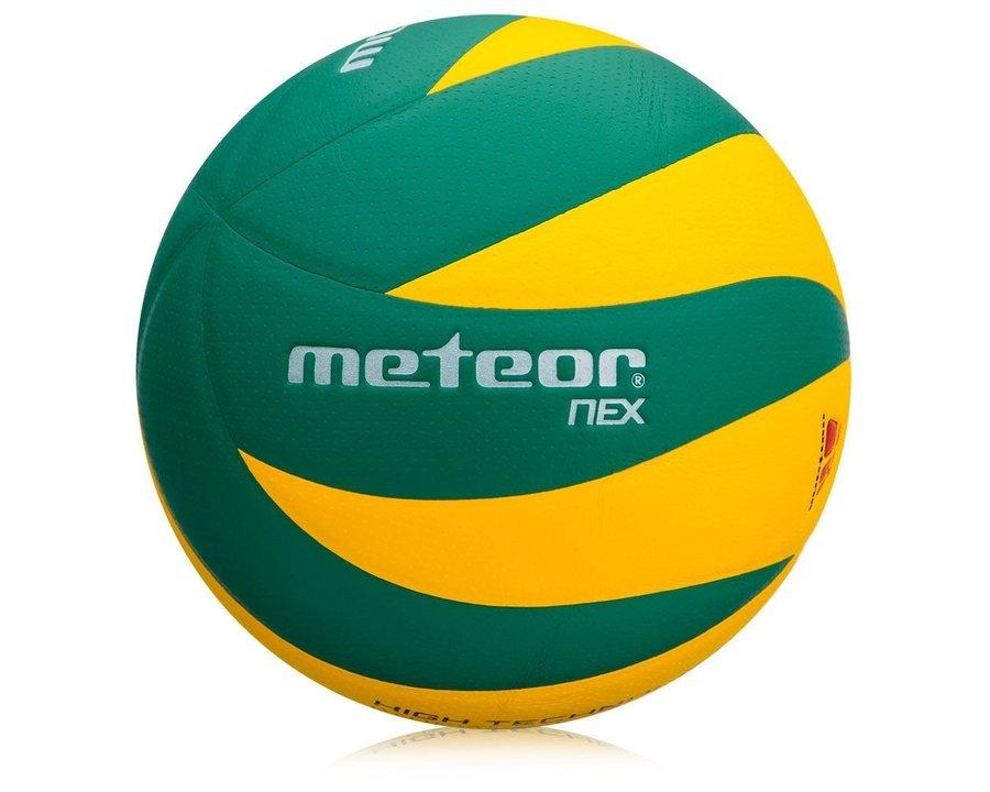 Červeno-žlutý volejbalový míč Nex, Meteor - velikost 5