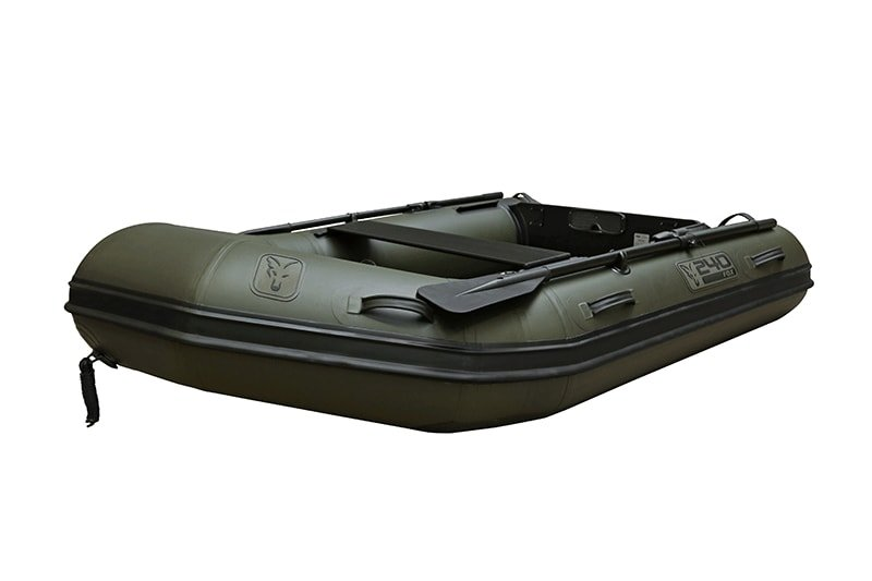 Člun - Fox Nafukovací člun 240 Green Inflable Boat 2,4m - Air Deck Black