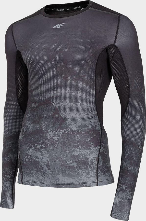 Černé pánské funkční tričko s dlouhým rukávem 4F