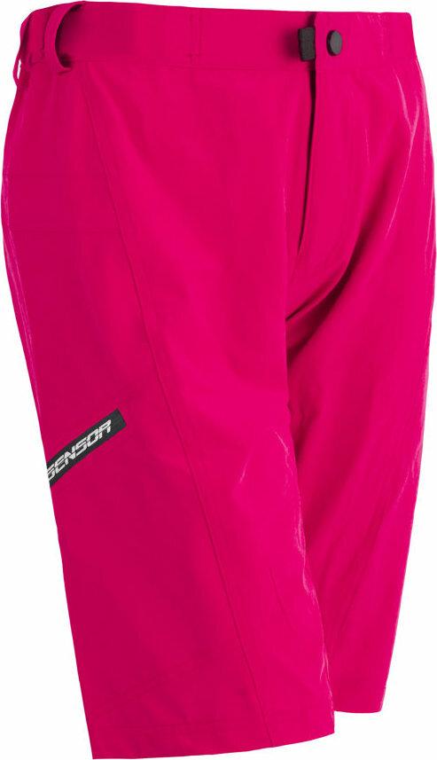 Růžové dámské cyklistické kraťasy s vložkou Sensor - velikost XL