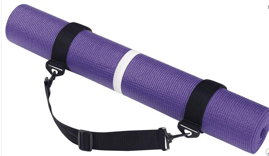 Podložka na jógu - Rucanor Yoga Mat with belt podložka na cvičení - fialová