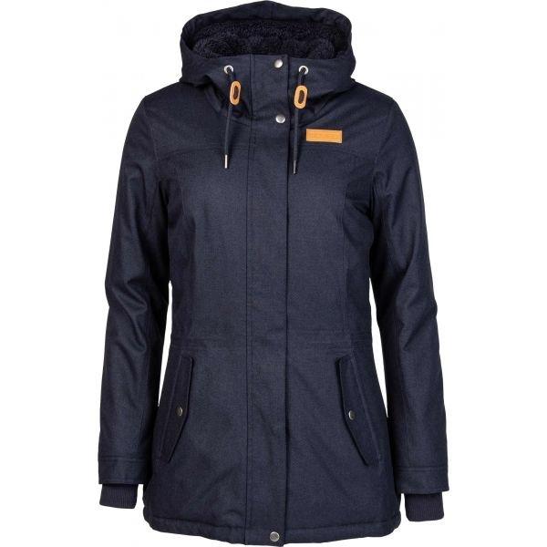 Modrá zimní dámská bunda s kapucí Willard - velikost XL