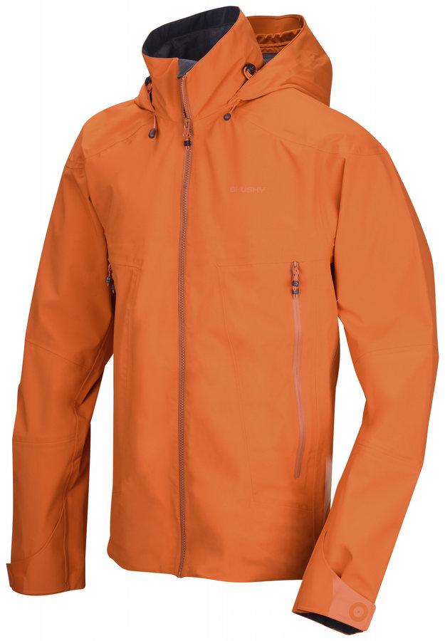 Oranžová pánská turistická bunda Husky