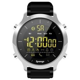 Černé chytré hodinky Smartwatch SurfWatch, Sponge