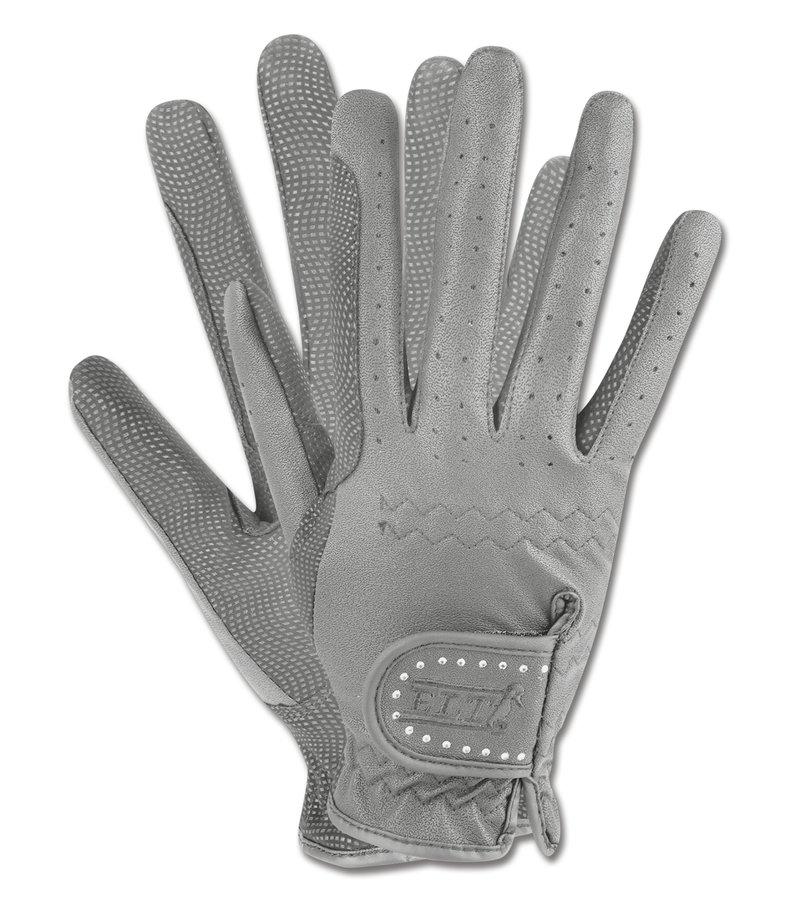 Šedé jezdecké rukavice Allrounder, ELT - velikost M