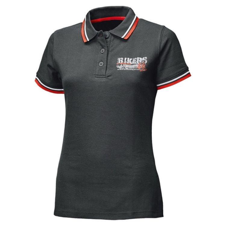 Černé dámské motorkářské tričko s krátkým rukávem Held