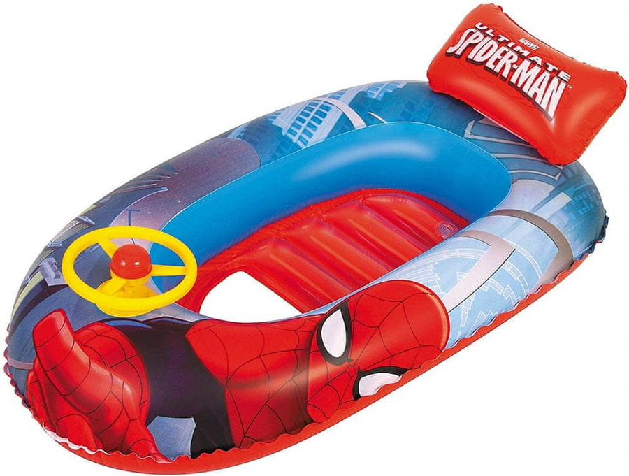 Červený dětský nafukovací člun s nafukovacím dnem Bestway
