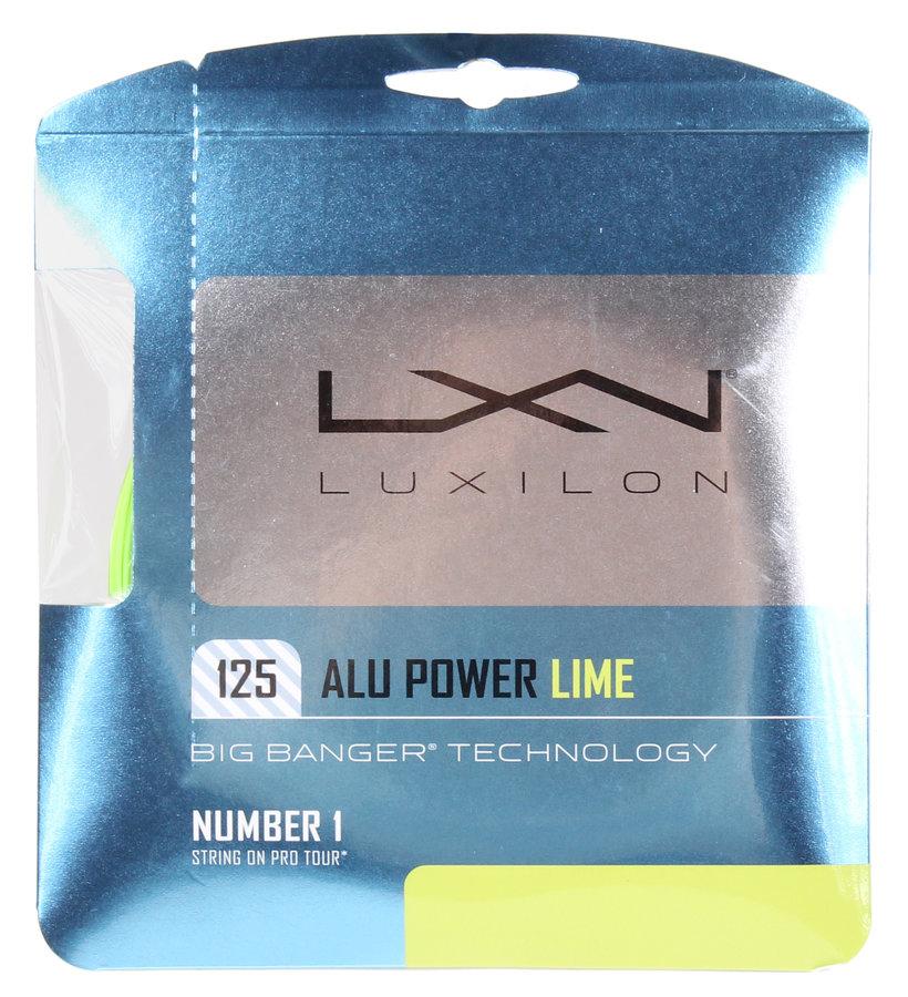 Tenisový výplet - Luxilon Alu Power 12,2m limetková 1,25
