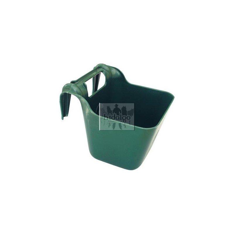 Zelený plastový závěsný žlab - objem 13 l