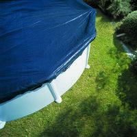 Modrá plachta na bazén GRE - délka 730 cm a šířka 375 cm