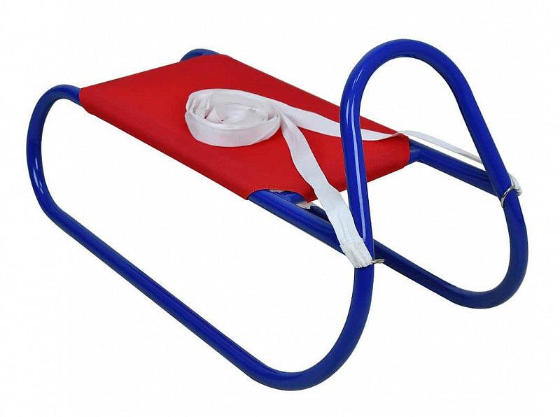 Červeno-modré kovové dětské sáňky Rulyt