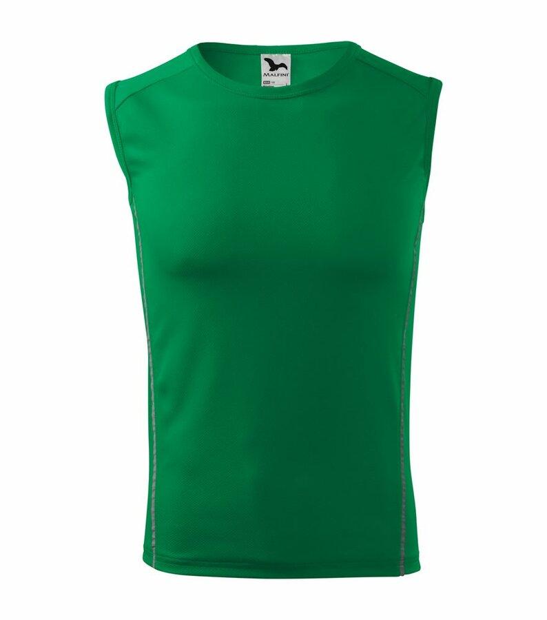 Zelené pánské tričko bez rukávů Adler - velikost M