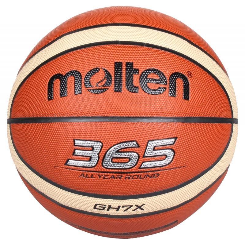 Hnědo-žlutý basketbalový míč BGE7, Molten - velikost 7