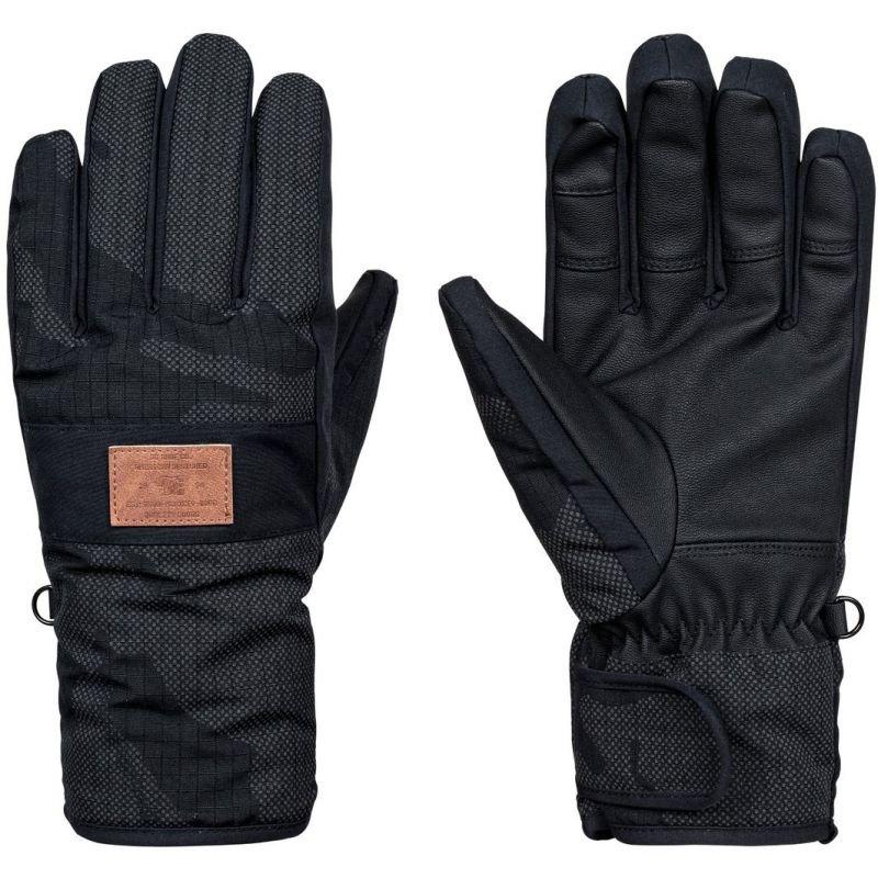 Černé pánské snowboardové rukavice DC - velikost S