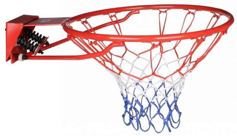 Basketbalová obroučka - Koš na basket odpružený TBS10 SEDCO - červená