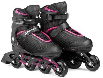 Černo-růžové kolečkové brusle Motion, Hop-Sport - velikost 35-38 EU