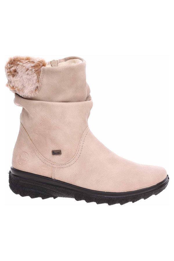 Béžové dámské zimní boty Rieker