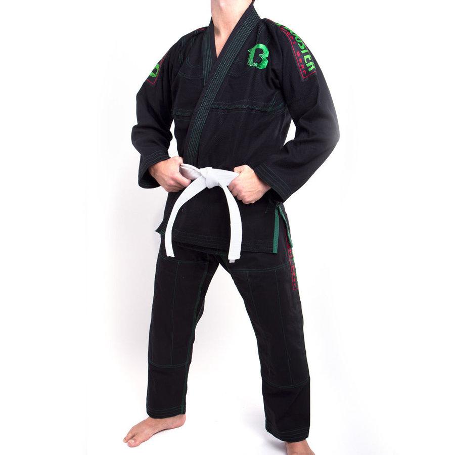 Černé kimono na jiu-jitsu Booster