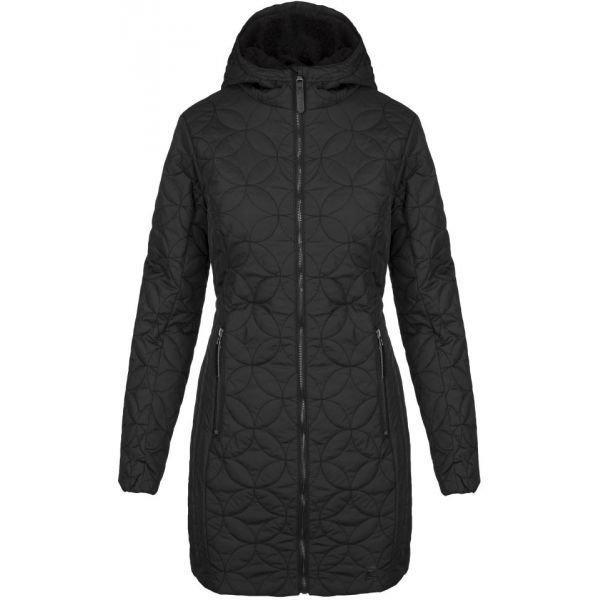 Černý zimní dámský kabát Loap - velikost S