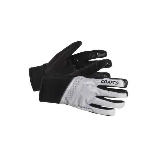 Černo-žluté zimní dámské cyklistické rukavice Craft - velikost XS