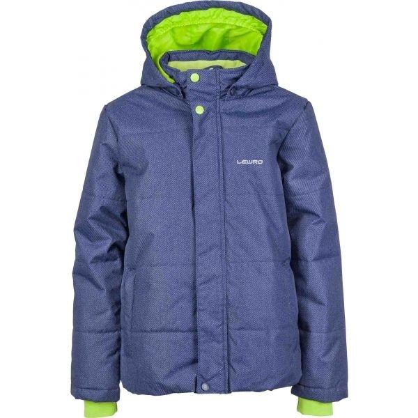 Modrá zimní chlapecká bunda Lewro