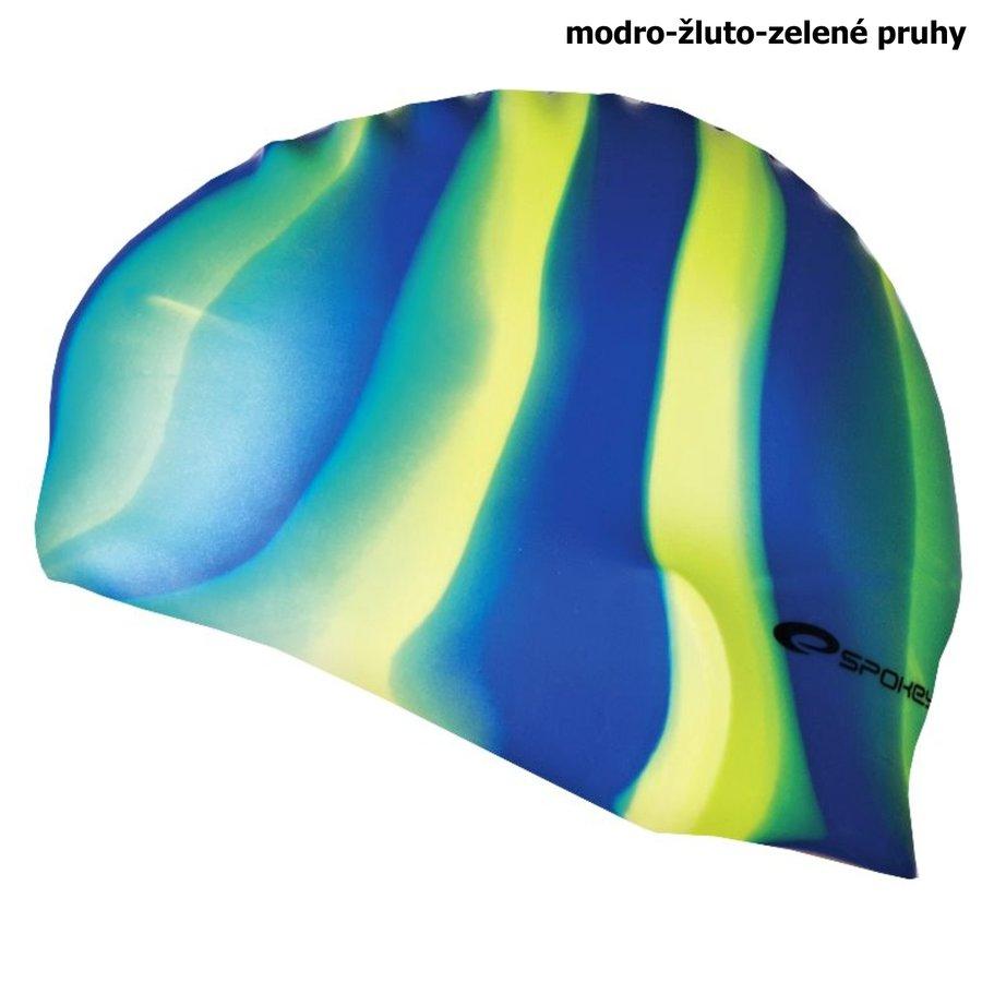 Modro-žlutá pánská nebo dámská plavecká čepice ABSTRACT, Spokey