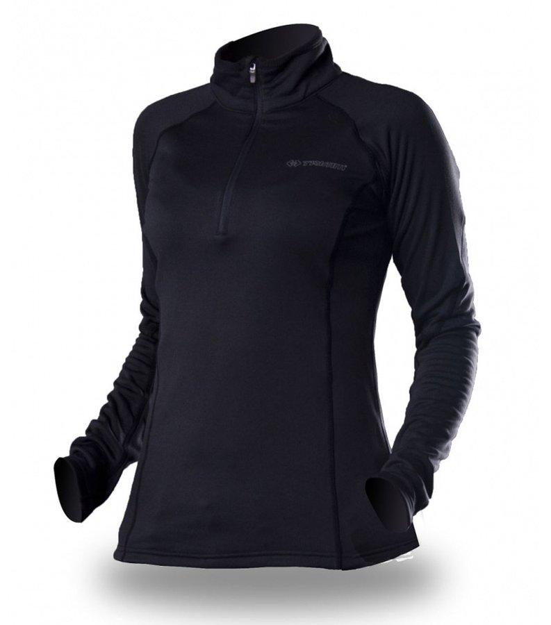 Černá sportovní dámská mikina bez kapuce Trimm
