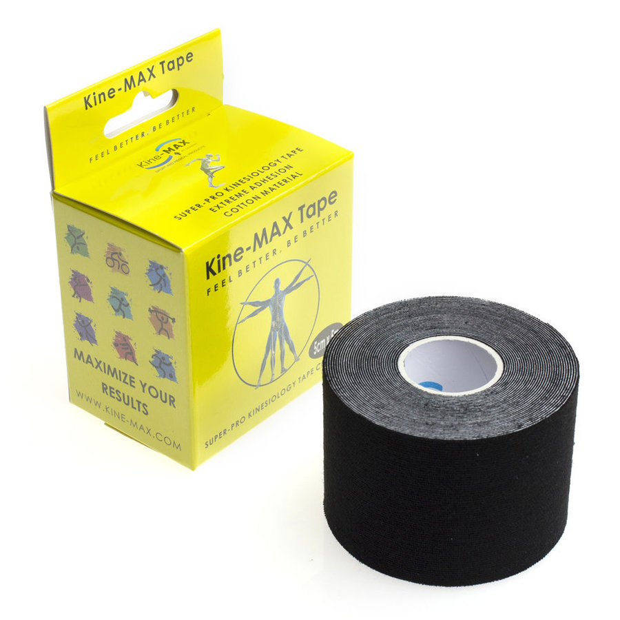 Černá tejpovací páska kine-max - délka 5 m a šířka 5 cm