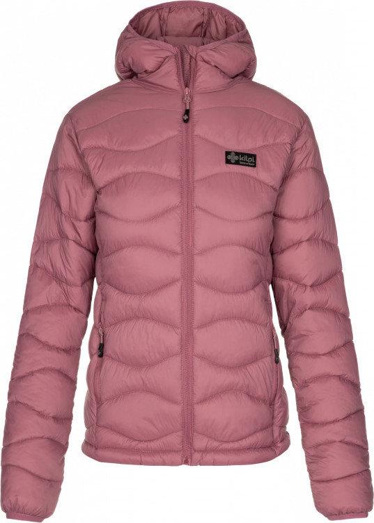 Fialová zimní dámská bunda s kapucí Kilpi