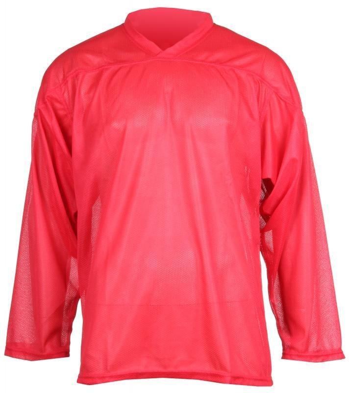 Červený tréninkový hokejový dres Merco - velikost XXS