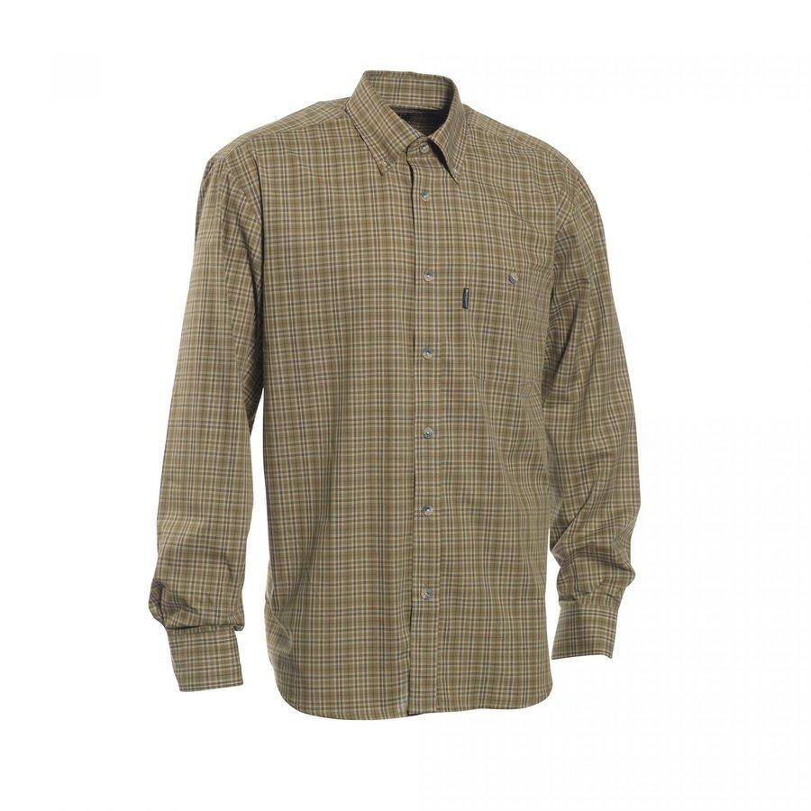 Khaki pánská košile s dlouhým rukávem Deerhunter - velikost 39-40