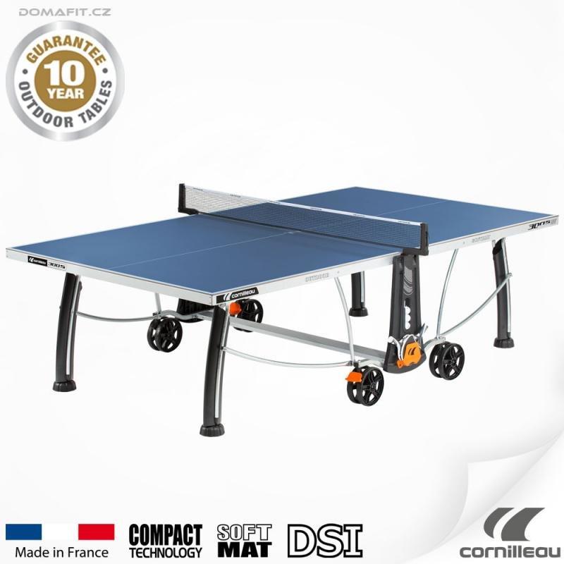 Modrý venkovní stůl na stolní tenis 300 S, Cornilleau