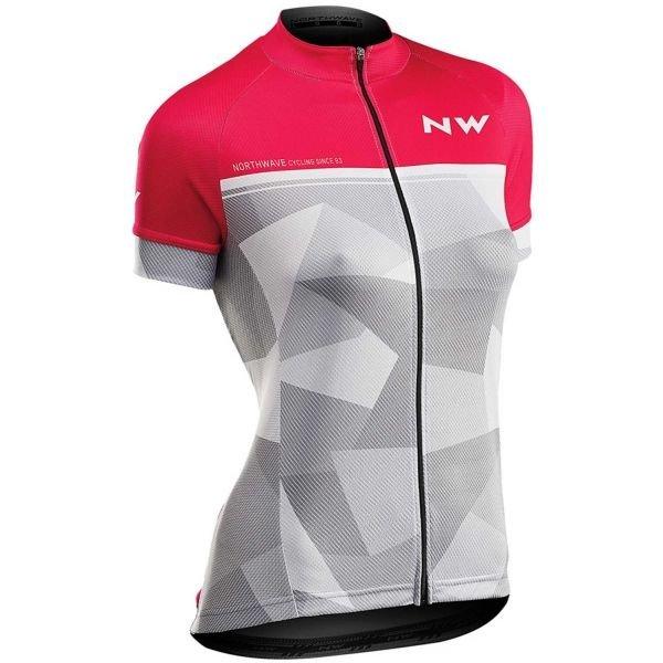 Růžový dámský cyklistický dres Northwave