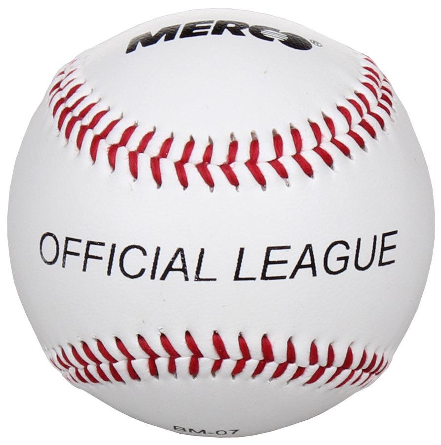 Bílý syntetický baseballový míček Merco