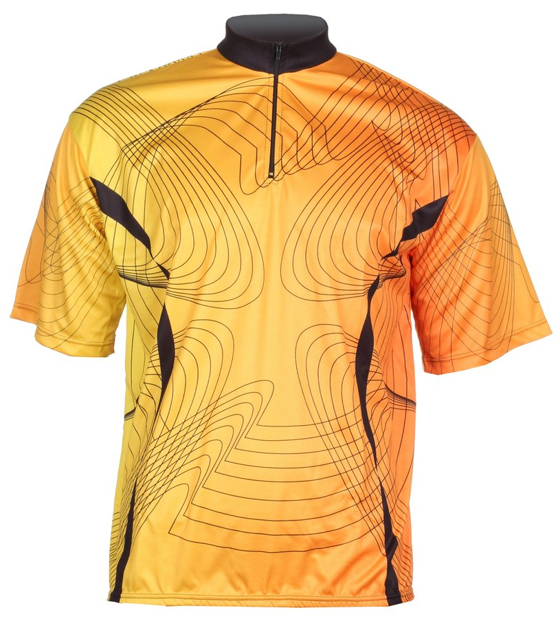 Oranžový pánský nebo dámský cyklistický dres Merco