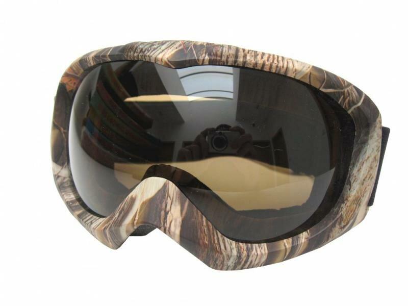 Hnědé brýle na snowboard Cortini