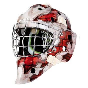 Brankářská maska - Maska Bauer NME 4 Wall Yth červená