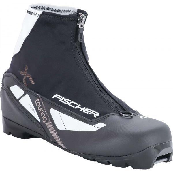 Černo-šedé dámské boty na běžky Fischer