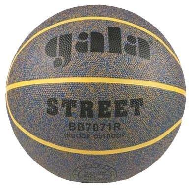 Šedý basketbalový míč Street BB7071R, Gala - velikost 7