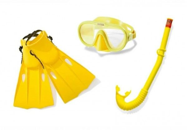 Plavecká sada - Teddies sada brýle+šnorchl+ploutve 8+