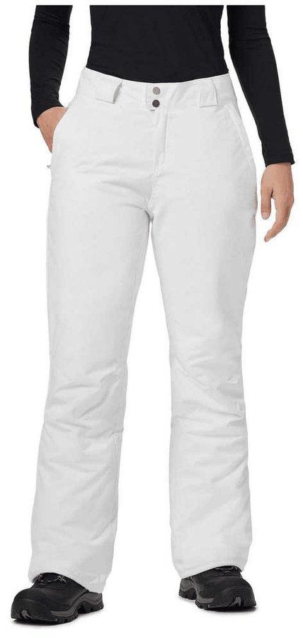 Bílé dámské lyžařské kalhoty Columbia