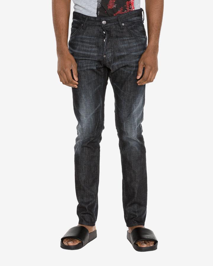 Černé pánské džíny DSQUARED2 - velikost 44