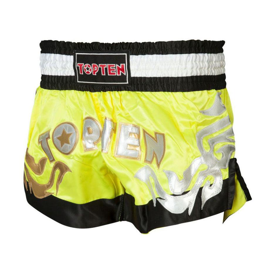 Žluté thaiboxerské trenky Top Ten - velikost XL