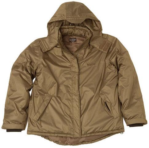 Hnědá zimní pánská bunda s kapucí Trakker