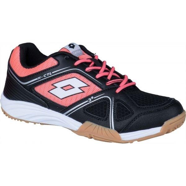 Černo-růžová dámská sálová obuv Lotto