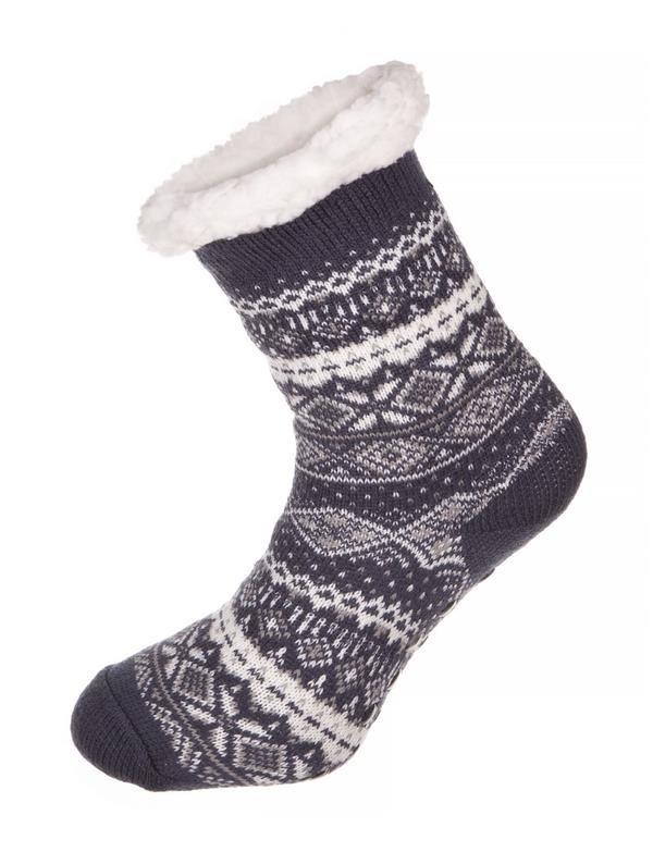 Šedé vysoké ponožky Alpine Pro - velikost S