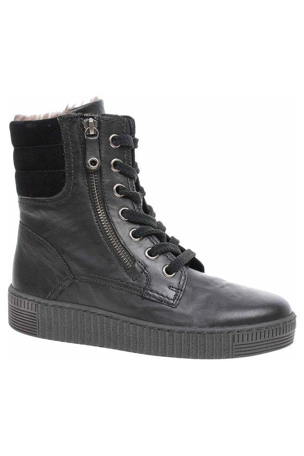 Černé dámské kotníkové boty Gabor - velikost 38 EU