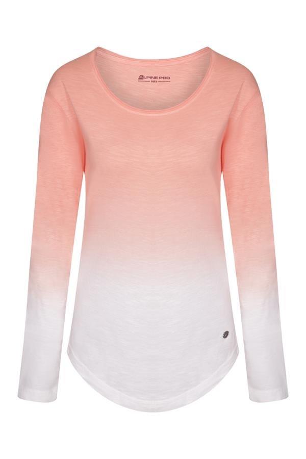 Oranžové dámské tričko s dlouhým rukávem Alpine Pro