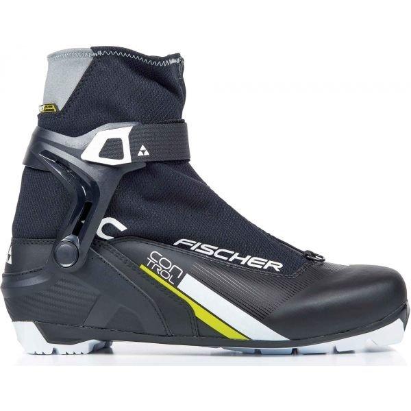 Černé pánské boty na běžky Fischer - velikost 43 EU